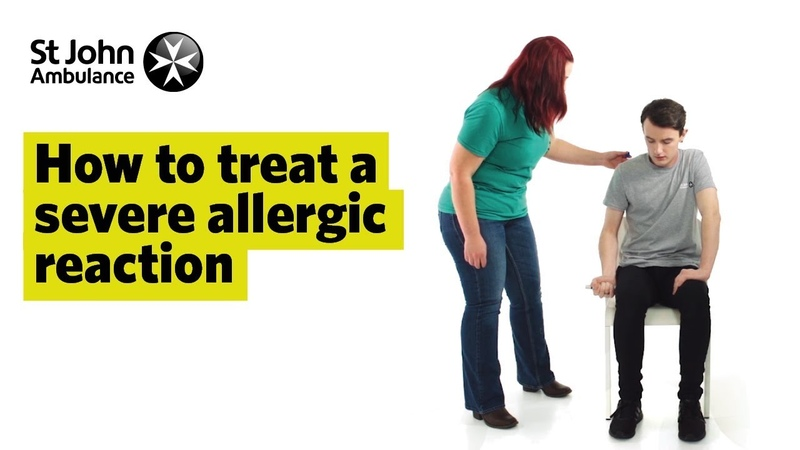 How To Treat A Severe Allergic Reaction, Signs Symptoms - First Aid Training - St John Ambulance