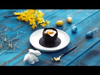 Сливочный мусс в шоколадном яйце