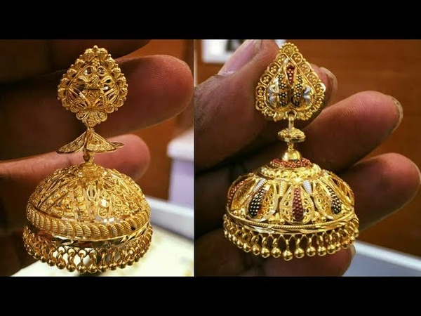 Beautiful Gold Earring jhumka Design Collection