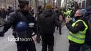 Parigi 15 dicembre 2018 i gilet gialli riescono a sfondare i cordoni della polizia