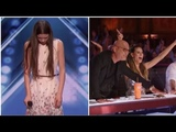 OMG! SHY Girl Turns Into A Singing Lion &amp Gets GOLDEN BUZZER!