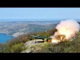 Севастополь - боевая стрельба ракетного комплекса «Утёс».