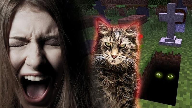 Пугаю Школьницу на Кладбище Домашних Животных в Майнкрафте