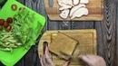 Блюда для перекуса • Тосты с копченой курочкой и арахисовой пастой