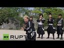Japan See Japan's first paid foreign ninja Chris O'Neill in action