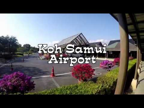 Красивый аэропорт островного типа на острове Koh Samui Тайланд