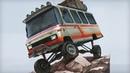 Off-road Minibus Digital Painting
