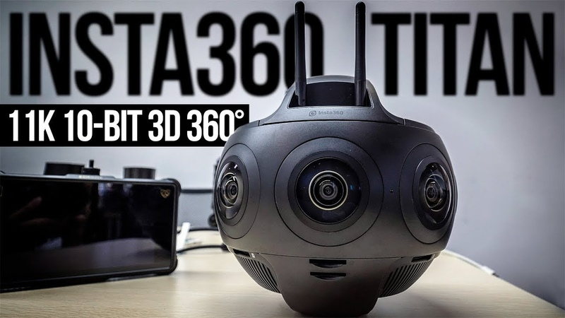 Insta 360 TITAN camera allow you to record videos in 360º on 11K Video by TekPulseTV