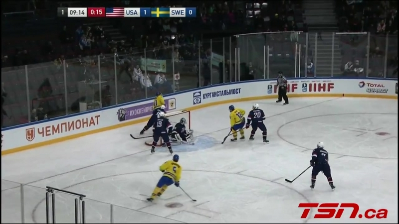 2018 IIHF Ice Hockey U18 World Championship Sweden vs USA Highlights