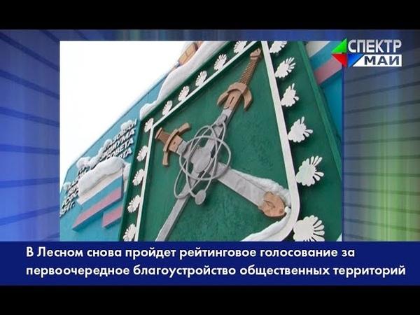 В Лесном пройдет рейтинговое голосование за первоочередное благоустройство общественных территорий
