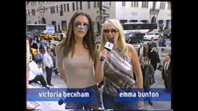 Emma Bunton and Victoria Beckham in New York VH1