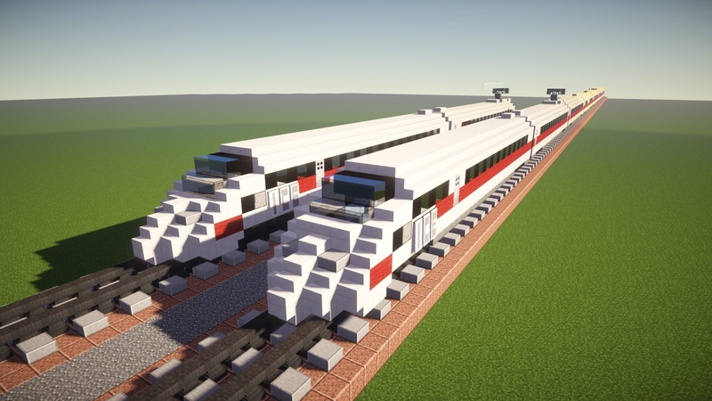 Minecraft Deutsche Bahn ICE 3 Highspeed Train Tutorial