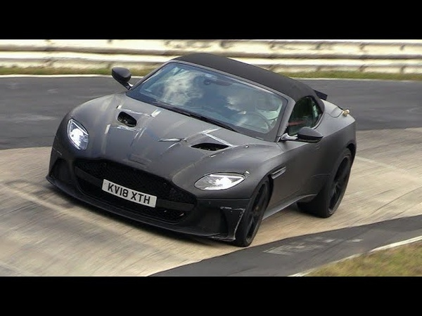 2019 Aston Martin DBS Superleggera Volante - Exhaust SOUNDS on the Nurburgring!