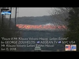 Racing River of Lava Flows 35-45 MPH Fissure #8 Mt. Kilauea Volcano View from leilani estates Hawaii