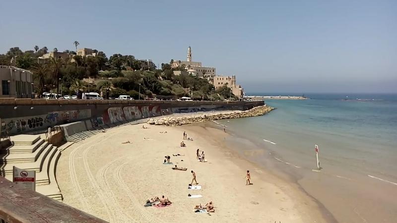 Тель-авив. Море. Вид на Яффо.