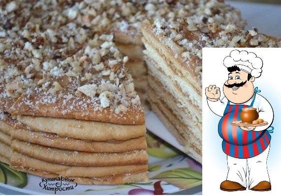 торт медовик со сгущенкой ингредиенты: 1 яйцо; 50 г сливочного масла; 0,5 ст. сахара; 1 ст. л. меда; 0,5 ч. л. соды 1,5 ст. муки; 1 банка вареной сгущенки. приготовление: заранее, за 1 или