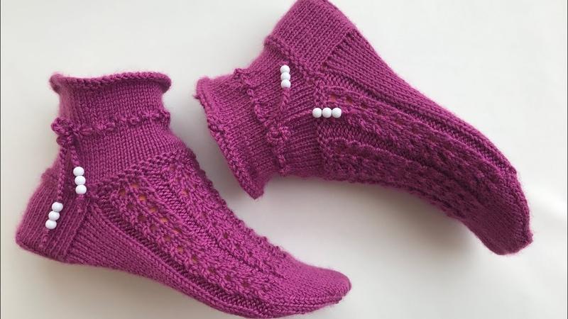 Beş şiş örgü çorap örgü kısa çorap çorap patikpatik nasıl yapılır