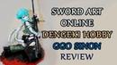 Anime figures Dengeki Hobby Sword Art Online Sinon Review Обзор