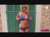 Melissa Debling in blue bikini 2 big tits ass
