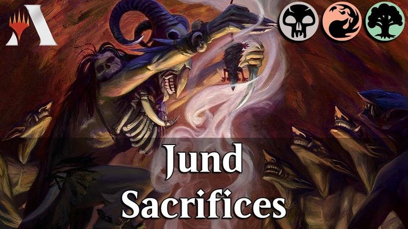 MTG Arena GRN   Jund Self-Sacrifice DeckTech Gameplay [HadToDoIt]