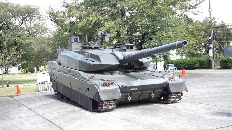 10式戦車試作車両での、油気圧姿勢制御デモ