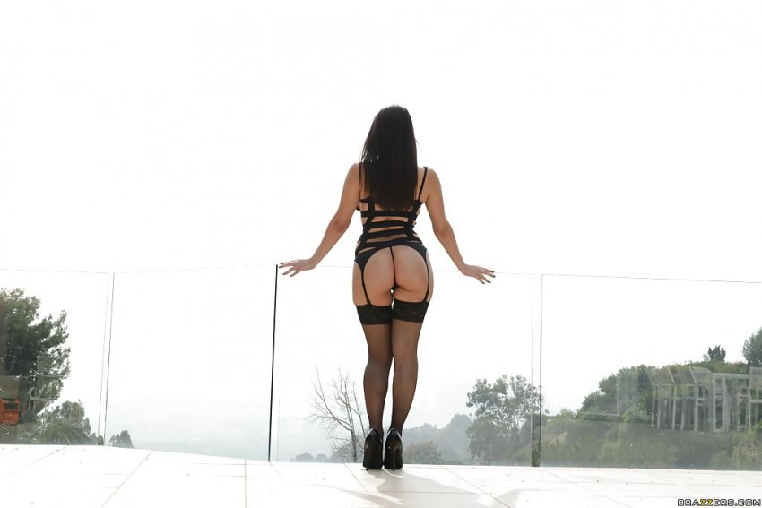 Stunning and lascivious honey stripping down her
