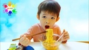 Xavi Pretend Play Cooking the Noodles singing Johny Johny Yes Papa - Babies song for baby Anna