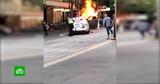 Нападение мужчины с ножом на полицейских в Мельбурне попало на видео