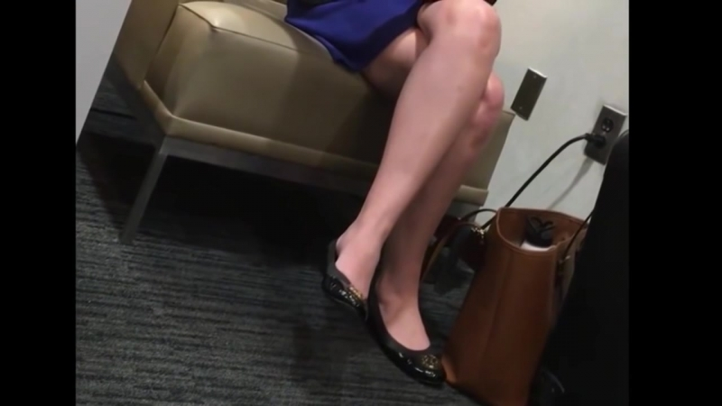 Perfect cossed legs in waiting room