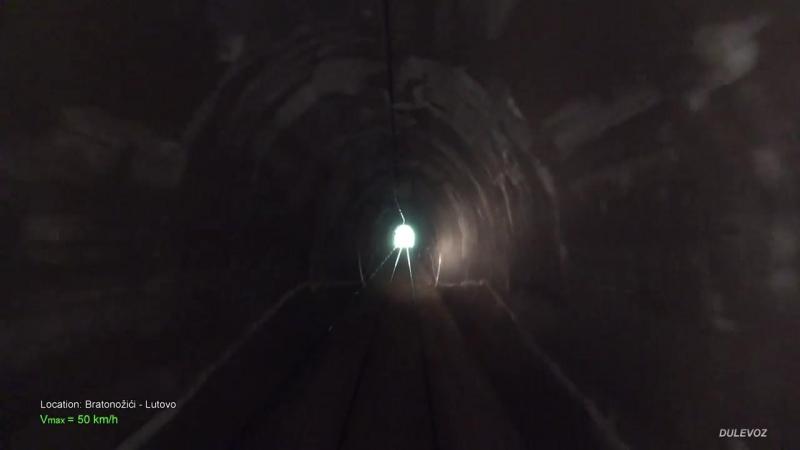 4K CABVIEW Bar - Bijelo Polje -102 tunnels -96 bridges -1029m altitude change fr