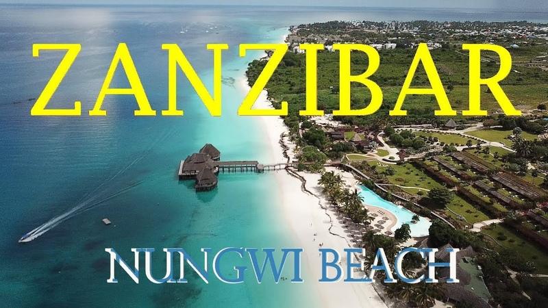 ZANZIBAR Nungwi beach by drone...One of most beautiful beach in the WORLD