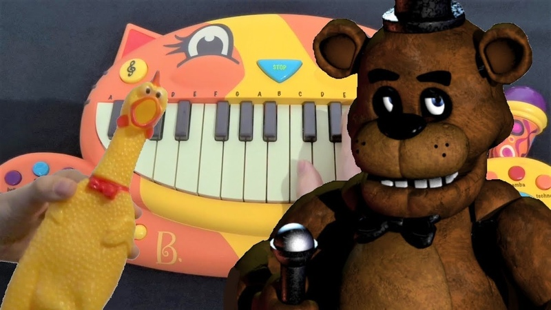 Five Nights At Freddys Song - The Living Tombstone (Cat Piano, Chicken and Drum Calculator Cover)
