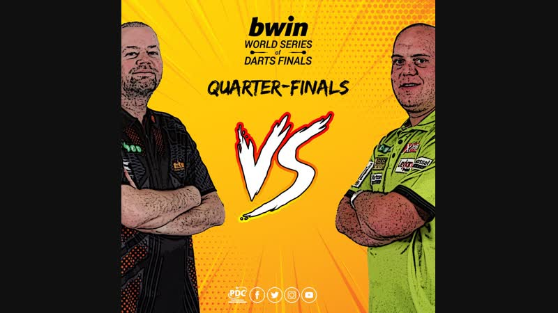 2018 World Series of Darts Finals Quarter Final van Barneveld vs van Gerwen