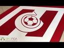 Сделали наливной пол с эмблемой для Фк Спартак Москва
