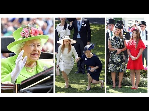 The YORK AND The AL MAKTOUMS FAMILY joined QUEEN ELIZABETH for ROYAL ASCOT DAY 4