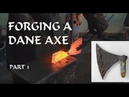 Forging a Viking Dane Axe With Tord of Thor's Forge part 1