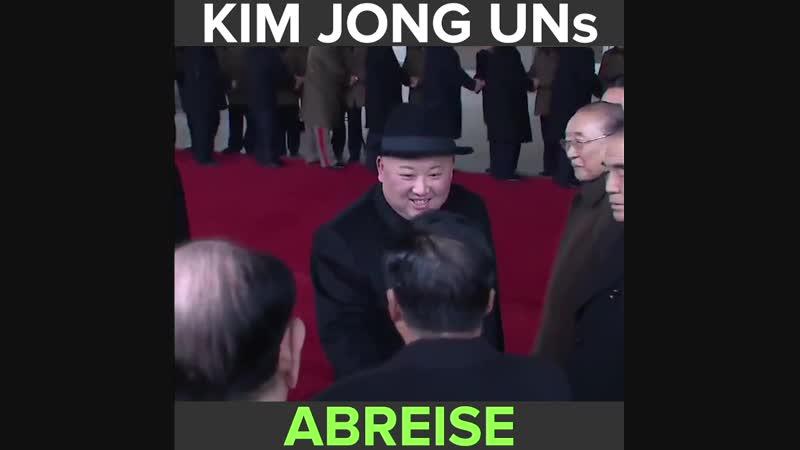 Kim Jong Un ist für einen Besuch von Pjöngjang per Sonderzug nach China gereist