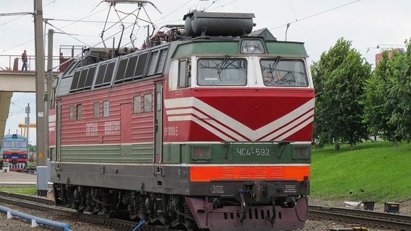 ZDSimulator. ЧС4т-592 с почтово-багажным поездом по участку Минск - Орша.