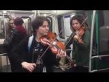 Скрипачки в петербургском метро (01.10.2018)