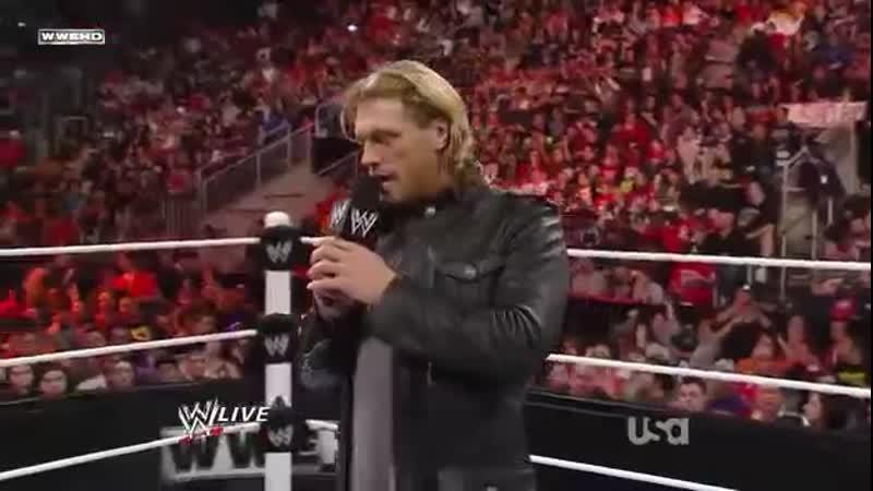 WWE Mania Ро 11 4 11 Эдж объявил о завершении карьеры профессионального рестлера