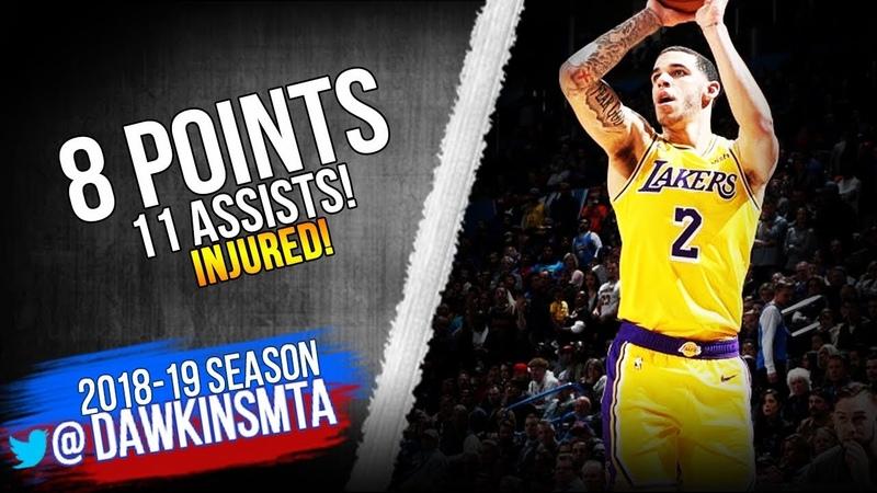 Lonzo Ball Full Highlights 2019.01.19 Lakers vs Rockets - 8 Pts, 11 Asts, INJURED!   FreeDawkins