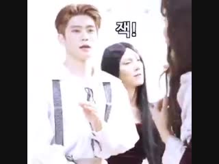 jaehyun checking out jungwoo like they're in a club or something.... please.... PLEASE