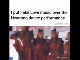 their dance performance looks a lot like the beginning of fake love