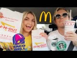 Letting The Person In Front Of Me DECIDE What I EAT for 24 HRS!!! | Rydel Lynch