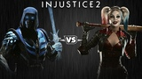 Injustice 2 - Саб-Зиро против Харли Квинн - Intros &amp Clashes (rus)