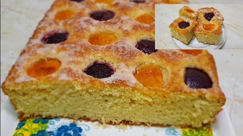 Безумно вкусный Пирог с фруктами/Ажойиб мевали ПИРОГ