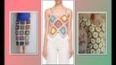 Модели вязания Квадратик ромбик и цветочек как элемент одежды