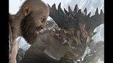 God of War 4: Kratos Kills Dragon (Short Cut) HD