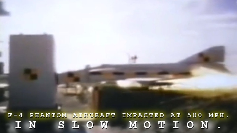 F-4 Phantom Aircraft Impact At 500 MPH In Slow Motion.