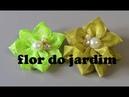 Flores de fitasque podemos fazer de dois jeitos 2 Ribbon Flower Patterns